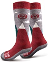 OutdoorMaster Kids Ski Socks - Merino Wool Breathable Blend, Over The Calf (OTC) with Non-Slip Cuff, Sizes 7-11.5 - 12-4...