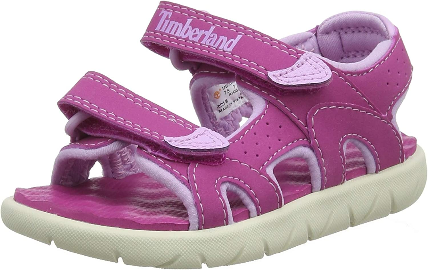 Timberland Perkins Row 2-Strap Medium Pink Synthetic Infant Strap Sandals