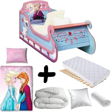 Bebegavroche Pack Completo Premium Cama Trineo Frozen Disney ...