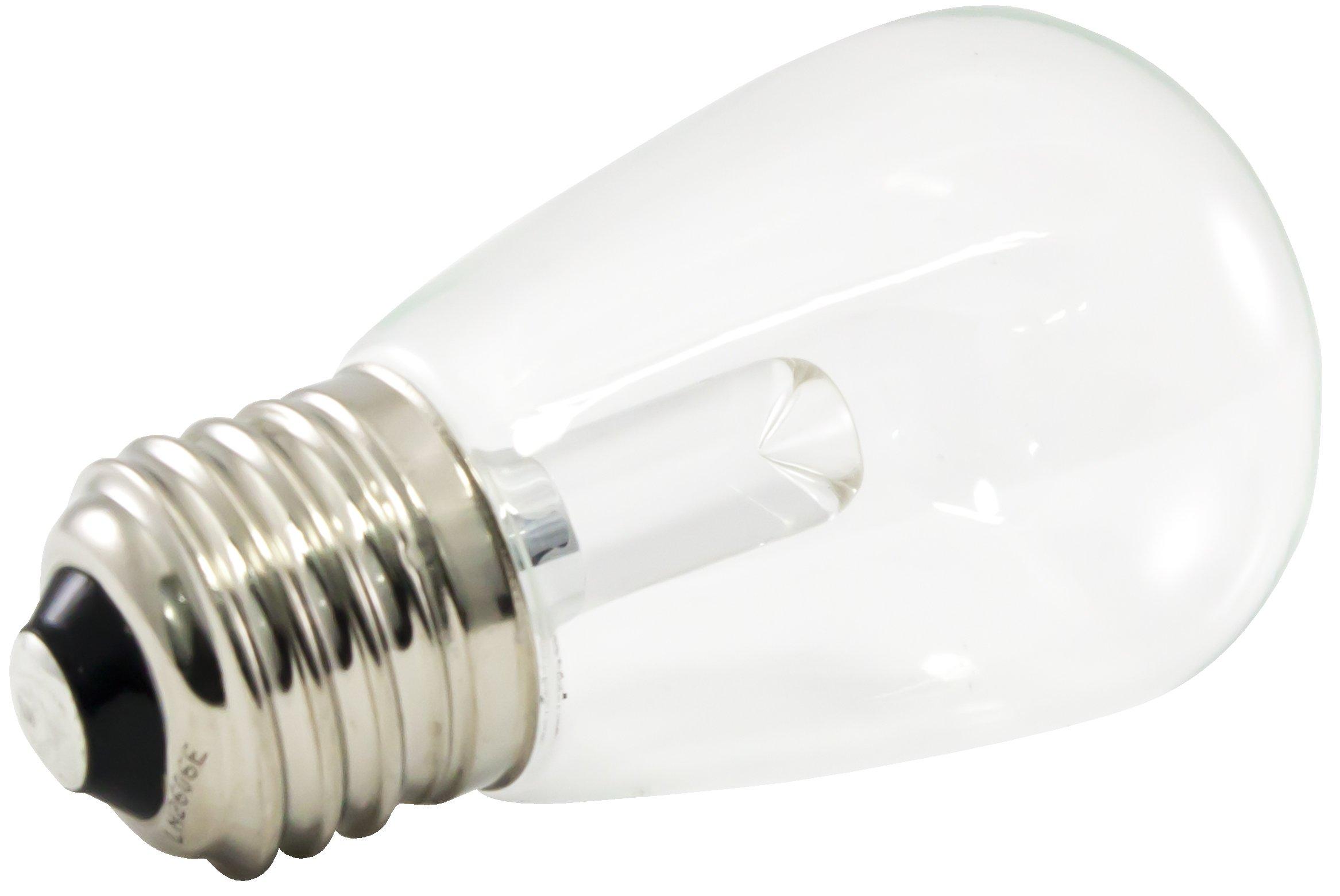 American Lighting Dimmable LED S14 Transparent Light Bulbs, E26 Medium Base, 2700K Warm White, 25-Pack