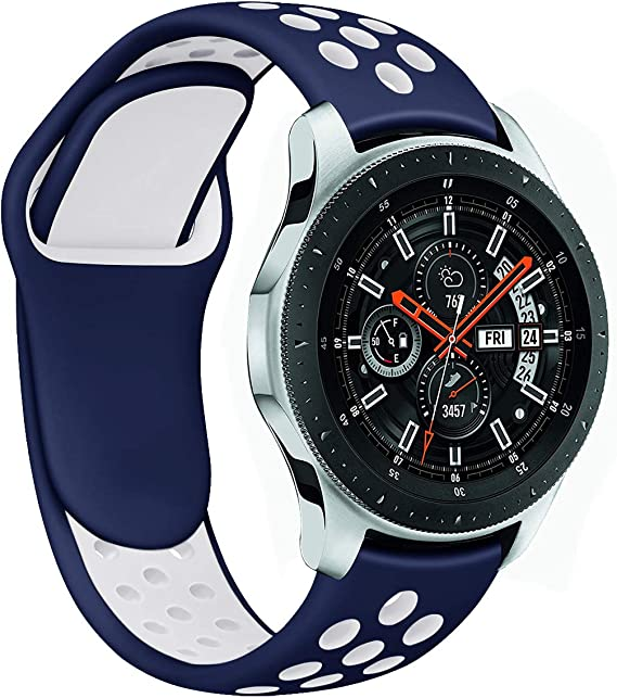 Galaxy Watch 46mm Bands, Gear S3 Bands, Auswaur 22mm Universal Soft Silicone Replacement Strap Band Compatible for Samsung Gear S3 Frontier/Classic ...