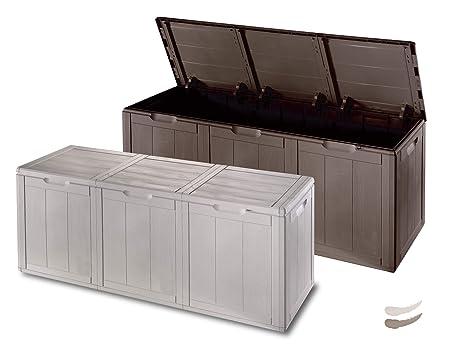 Amazing Weatherproof Outdoor Garden Storage Box   Brown Extra Largeu2026