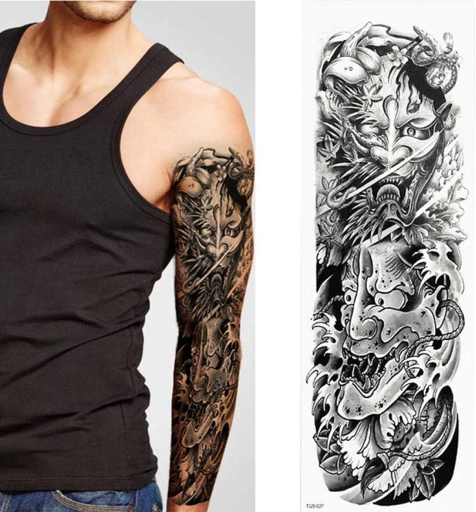 adgkitb 2pcs Tatuajes temporales, Lobo, Tigre, Oso, Guerrero ...
