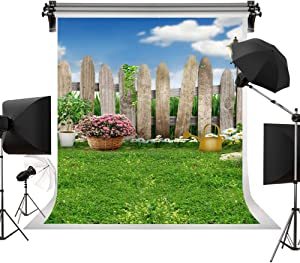 Kate 6.5x10ft/2m(W) x3m(H) Spring Photography Backdrops Lawn Garden Backdrop Party Sunny Blue Sky Photographic Background Easter Backdrop