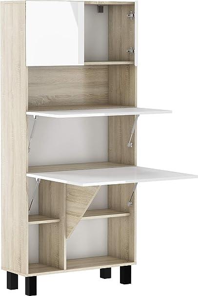 BIM Furniture Estantería de escritorio plegable HOMI, para el ...