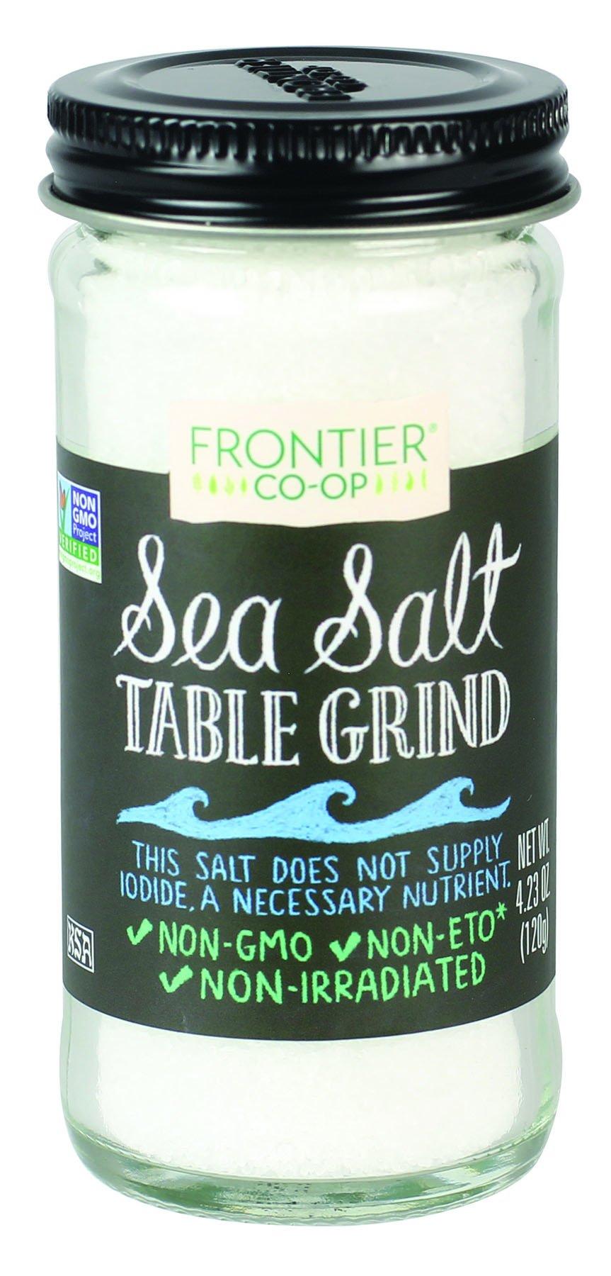 Frontier Co-op Table Grind Sea Salt, 4.23 Ounce (Pack of 12)
