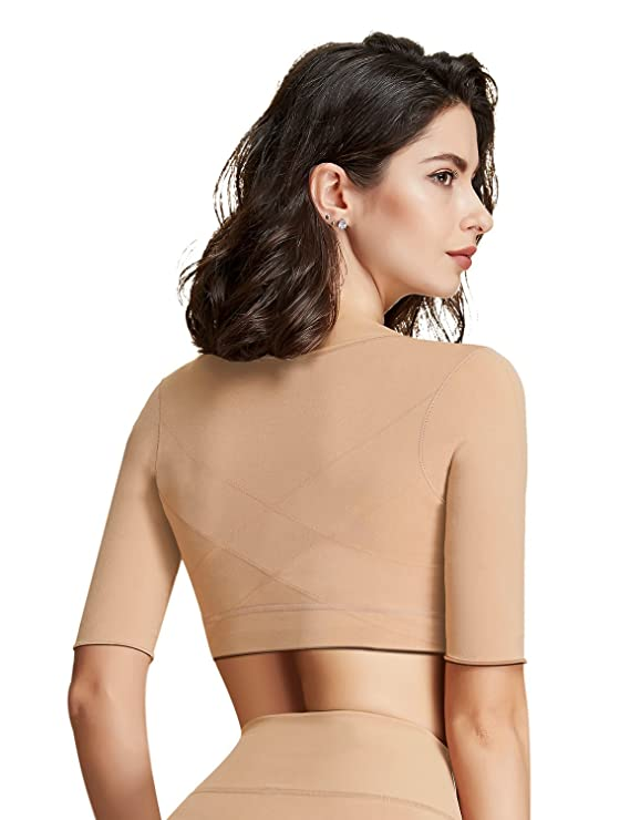 2044fb757fbed Lavender s Blue Arm Compression Shaper Sleeves Seamless Slimming Upper Vest  Posture Corrector for Women