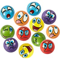 """Emoji Stress Ball 12 PCS Party Favor Balls (2.5"""") Squeeze Toy to Release Stress"""
