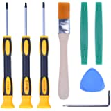 T6 T8H T9H T10H Screwdriver Tool Kit with Prying Tool and Cleaning Brush Repair for Microsoft Xbox One/Xbox 360 and Sony…