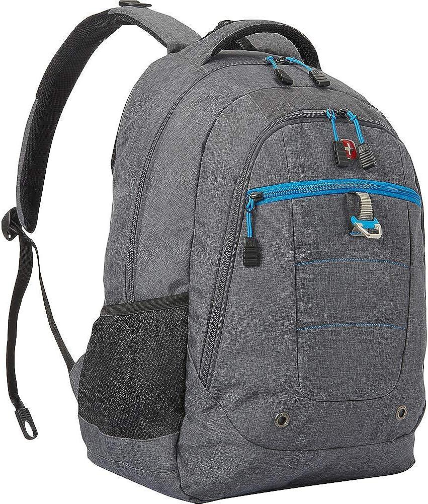 SwissGear Travel Gear 18.5 Inch Backpack Grey Heather Cyan Trophy