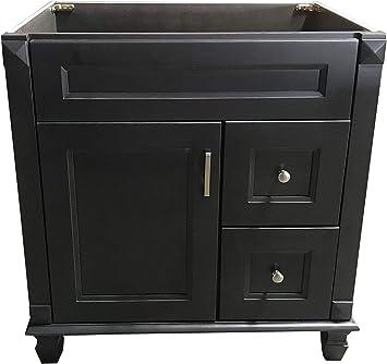"New Maple Walnut Single Bathroom Vanity Base Cabinet 36/"" W x 21/"" D x 32/""H right"