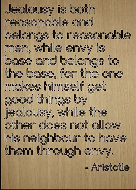 Amazoncom Jealousy Is Both Reasonable And Belongs Quote By