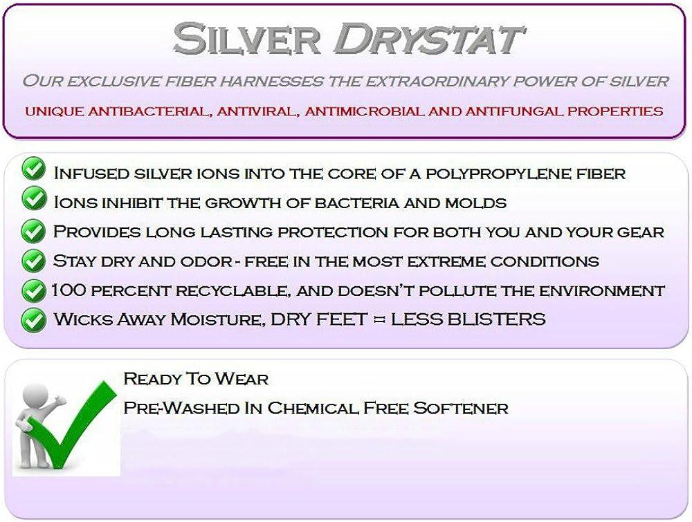 Large White//Green Eurosocks Performance Sprint Silver DryStat Ultra//Light Weight Running Low Cut Sock