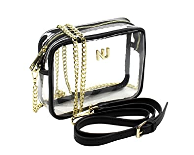 fc13b571d629 Nu Women Handbags Taylor Black   Gold Clear Crossbody Bag