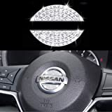 Bling Bling Bling Adesivo decorativo para volante de carro adequado para Nissan