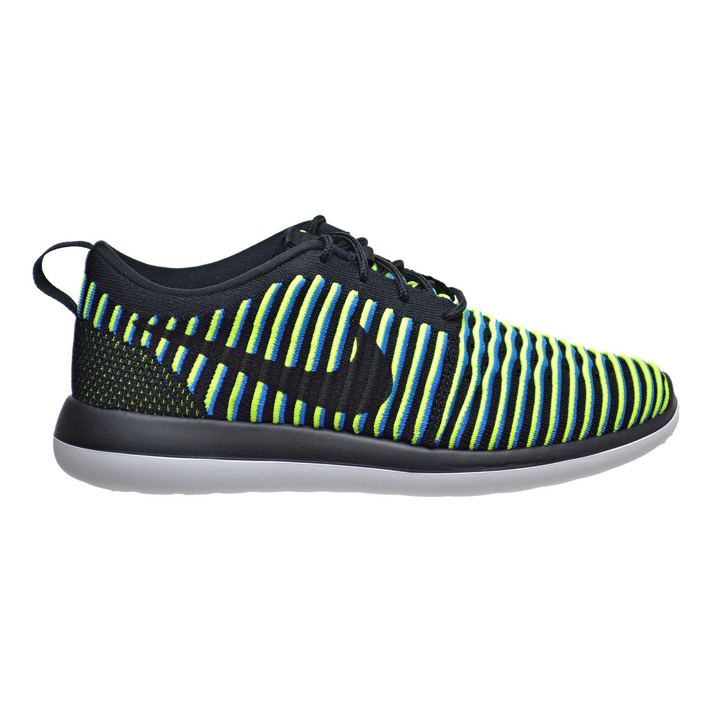 6e6ae02327b00 Nike Roshe Two Flyknit Womens Shoes Black Photo Blue Volt 844929-003 (5  B(M) US)  Amazon.in  Shoes   Handbags