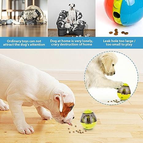 Robusta Palla Giocattolo per Cani Grandi E Piccoli Palla Cibo per Cani Interattiva IQ Dispenser Labirinto Palla Puzzle Sfera Giocattolo per Dog Toy Ball