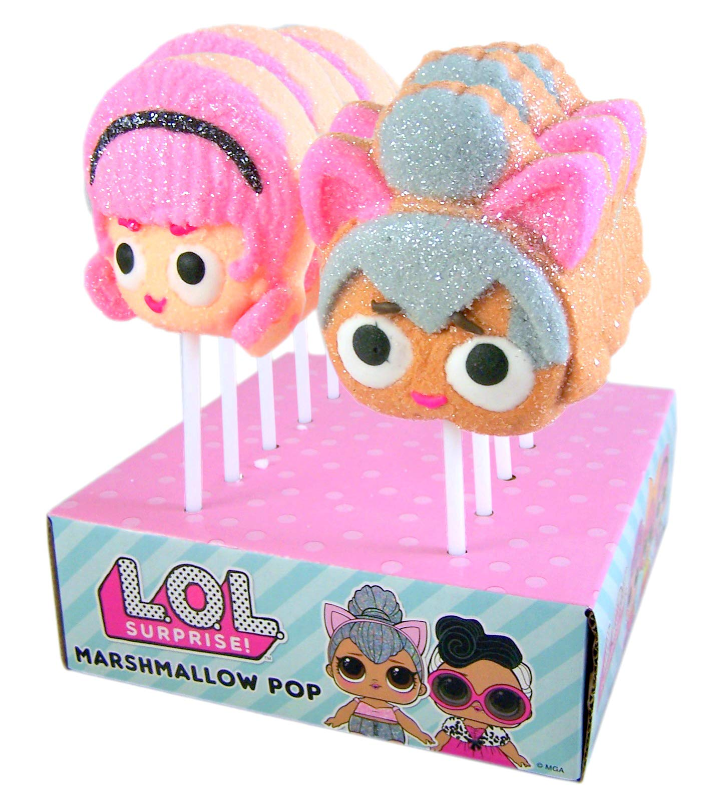 LOL Suprise Character Candy Marshmallow Pops, 1.41oz (Case of 12) by Marshmallow Pops