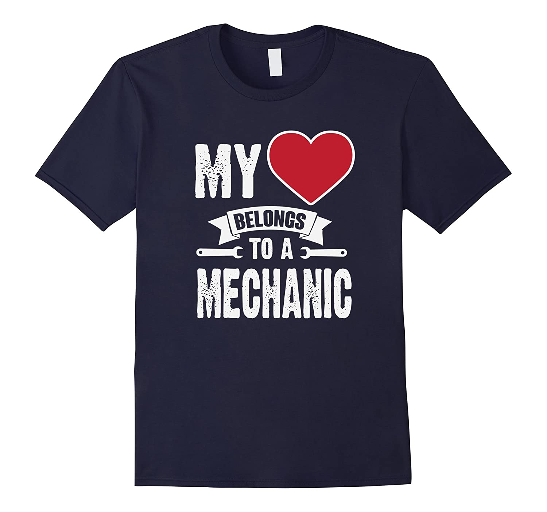 My Heart Belongs To An Auto Mechanic T-Shirt-FL