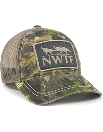 28418914219 Outdoor Cap NWTF Mossy Oak Obsession National Wild Turkey Federation Camo  Mesh Back Hunting Hat