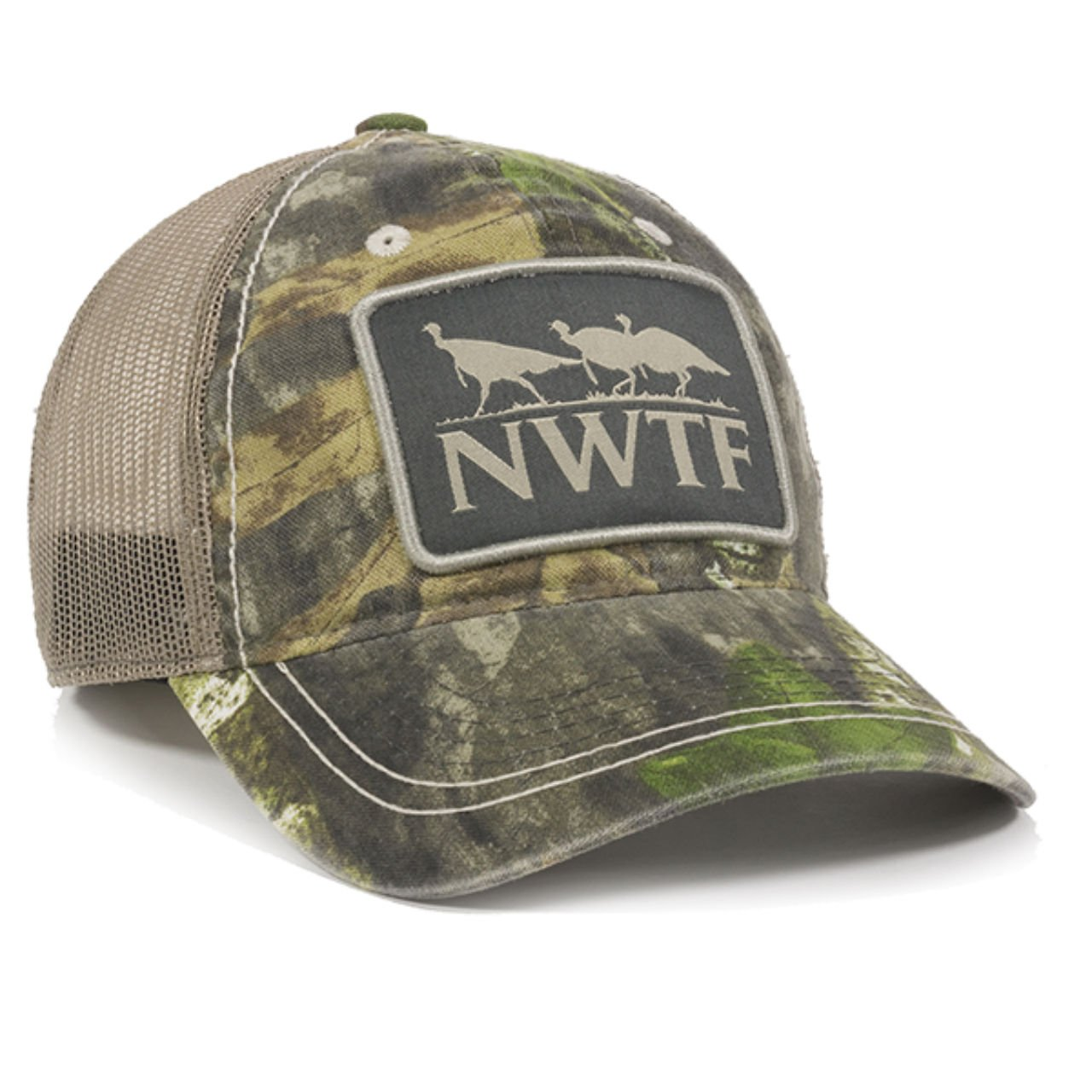 Outdoor Cap NWTF Mossy Oak Obsession National Wild Turkey Federation Camo Mesh Back Hunting Hat by Outdoor Cap (Image #2)