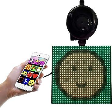 Pantalla de Control de la aplicación Bluetooth Animada LED de la Pantalla del Coche Emoji para el automóvil, aplicación Bluetooth Ajustable para iOS Android: Amazon.es: Electrónica