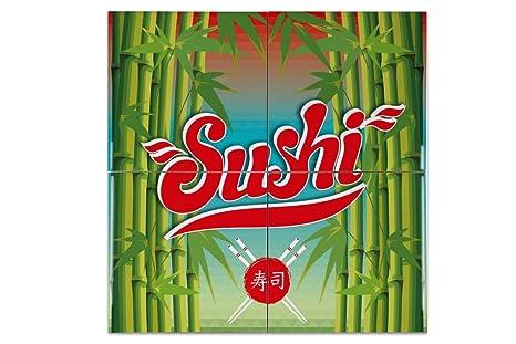 Piastrella arredamento cucina giappone sushi ceramica stampato
