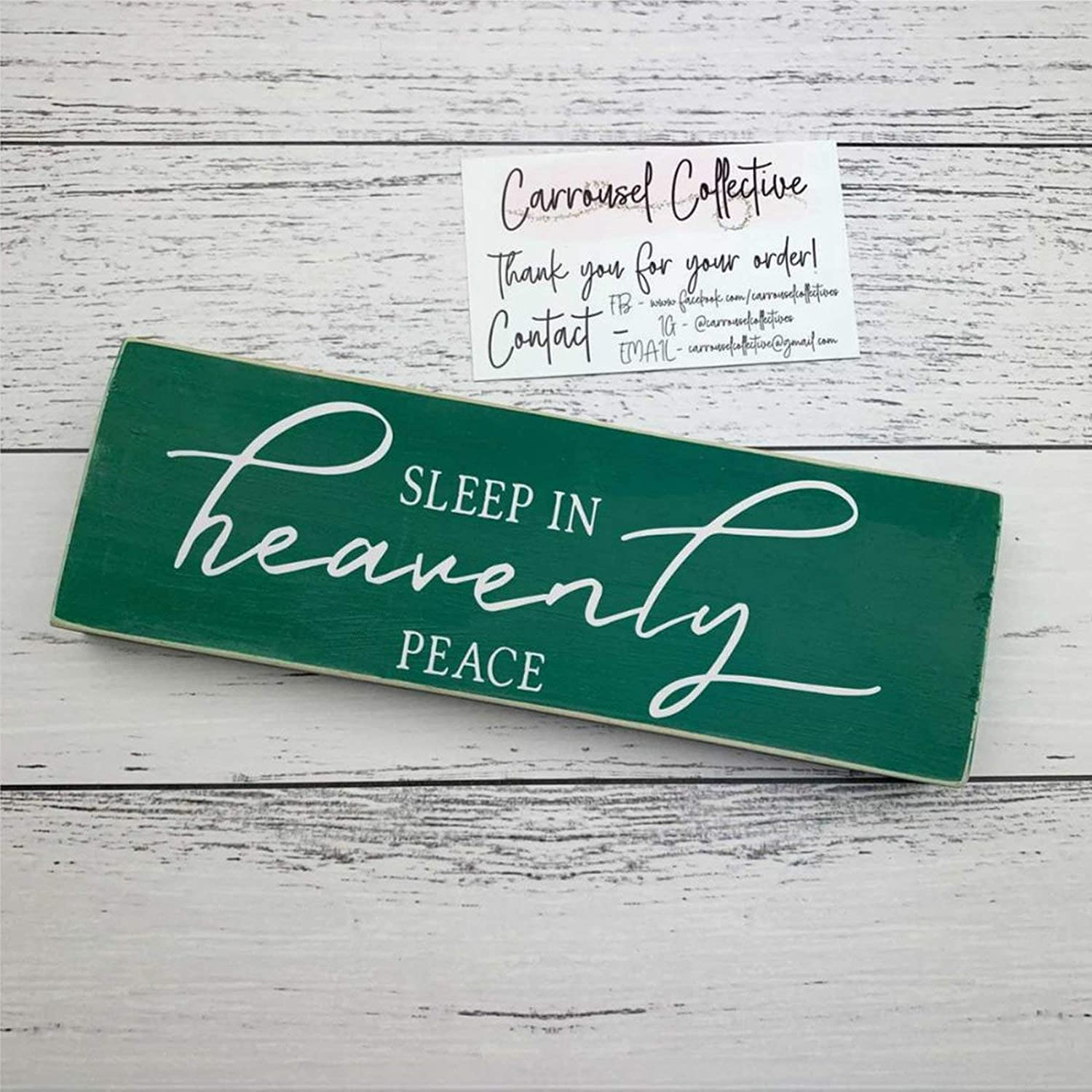 43LenaJon Sleep in Heavenly Peace Christmas Wood Wall Decor Sign,Custom Wood Sign,Wooden Plaque Art for Easter, Father's Day,Mother's Day,Home,Gardens.