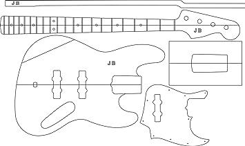 Explorer Gitarre Schablone templates Gitarrenbau