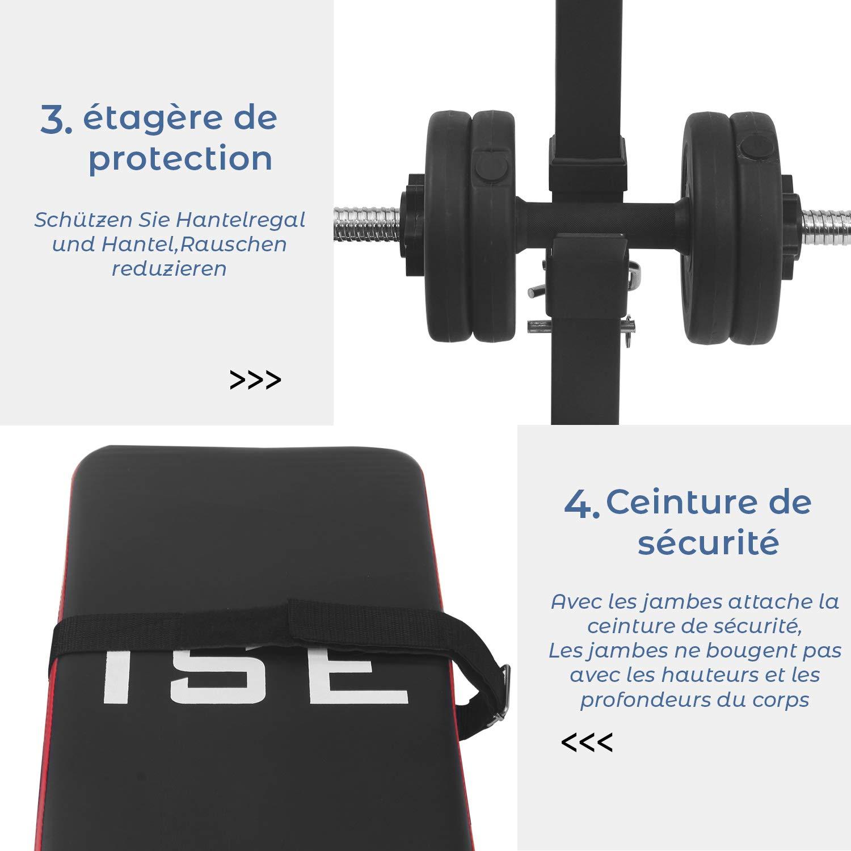 ISE Multifuncional Banco de Pesas Plegable-Bancos Musculacion Entrenamiento,Maquina Gimnasio Gym Negro: Amazon.es: Deportes y aire libre