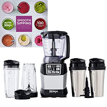Amazon.com: Ninja Auto-IQ 40-Ounce Blender with 4 Cups and a ...