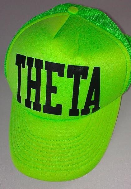 7d08e179abfeb Amazon.com   Theta Snapback Hat Foam Trucker Yellow Green Neon Cap Vintage  90s Cobra Fraternity   Sports   Outdoors