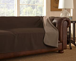 "product image for Mambe 100% Waterproof Furniture Cover for Pets and People (Sofa 70""x 120"", Chocolate-Cappuccino)"