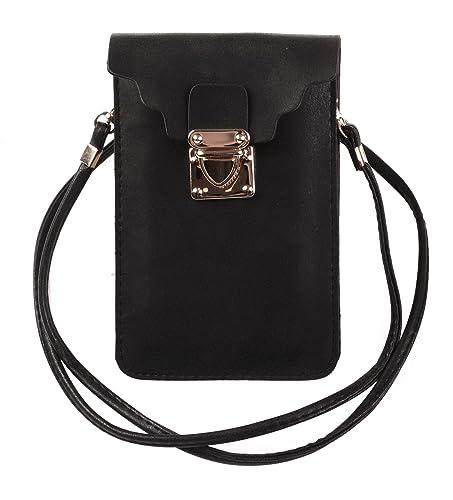 KISS GOLD (TM) Luxury Matte PU Leather Mini Crossbody Single Shoulder Bag Cellphone Pouch