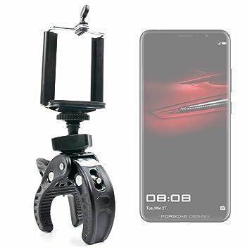 DURAGADGET Soporte Universal Tipo Pinza para Manillar de Bicicleta para Smartphone Huawei P20, Huawei P20