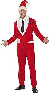Mens Smart Santa Claus Suit Father Christmas Fancy Dress Costume ...