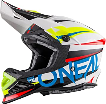 Casco Mx Oneal 2018 8Series Aggressor Blanco-Azul (L , Azul)