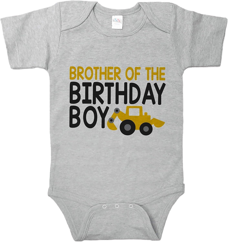 Boys Birthday Crew Construction Birthday Party Infant Bodysuit
