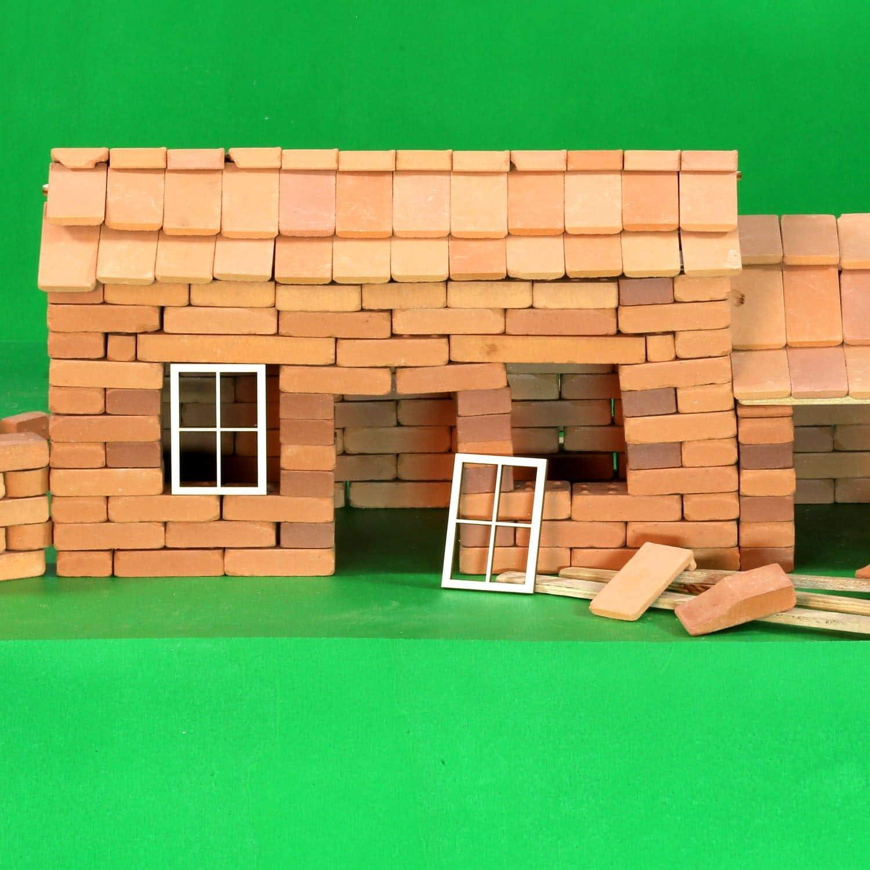 Deko Modellbau Größenauswahl Holz Fenster eckig
