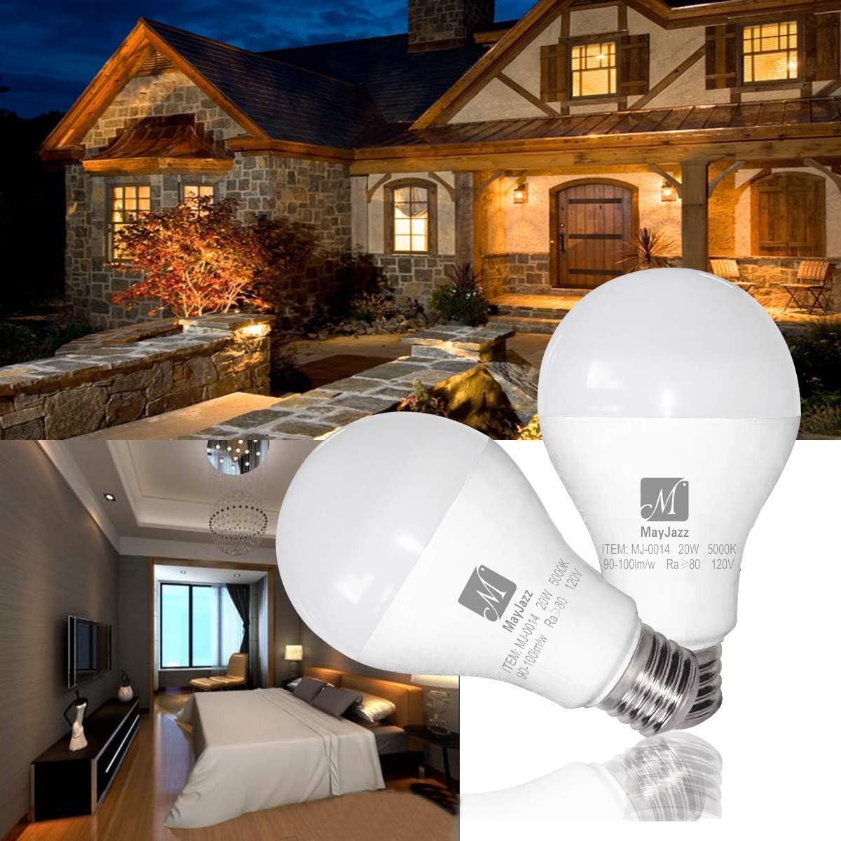 Led Light Bulbs A21 Warm White 3000k Lamp,20W 2200Lm, E26 Base Led Bulb(4 Packs)by MayJazz 125W Equivalent