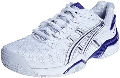 ASICS , Tennis Extérieur Femme Blanc WhiteLightning