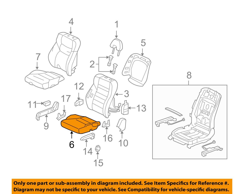 Honda Genuine 81537-SVA-A01 Seat Cushion Pad