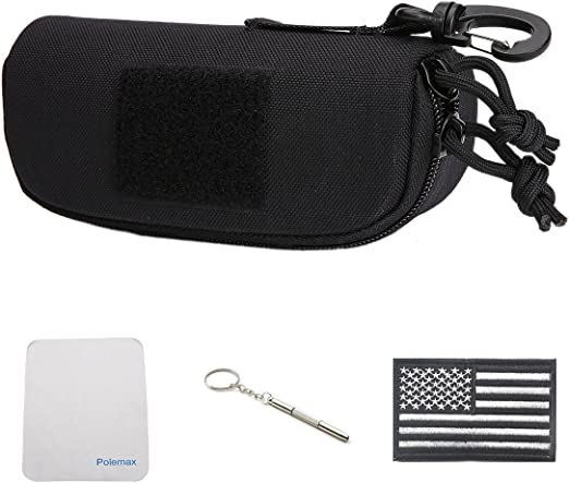 Tactical MOLLE Glasses Shockproof Protective Box Portable Outdoor Sunglasses Pouch Eyewear Carry Case