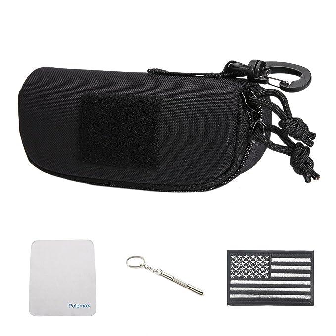 64833e5d71f0 Tactical Molle Zipper 1000D Nylon Sunglasses Case Eyeglasses Hard Case  Outdoor Portable Travel Carry Glasses Case