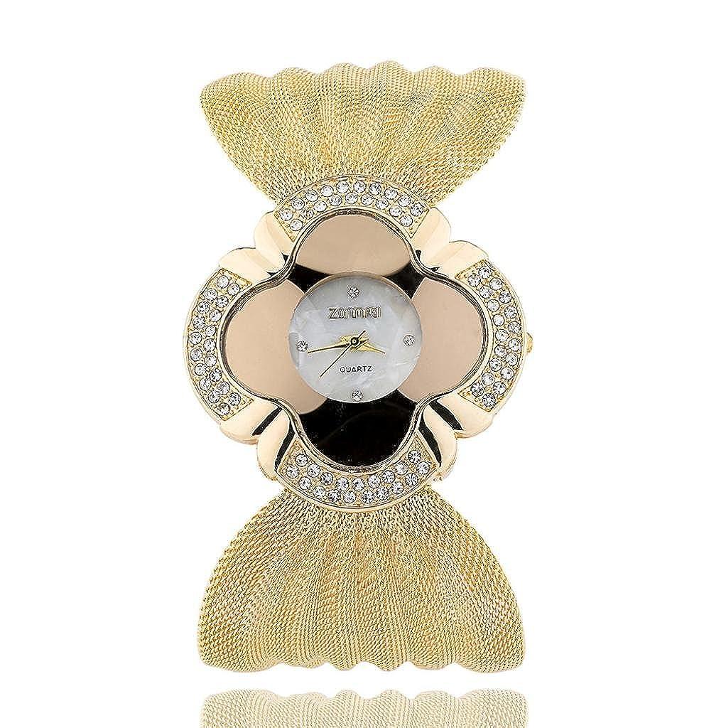 レディースファッション腕時計、Sinmaラインストーンスチールメッシュベルトバンド腕時計アナログクォーツブレスレット腕時計 B071HNN7K6
