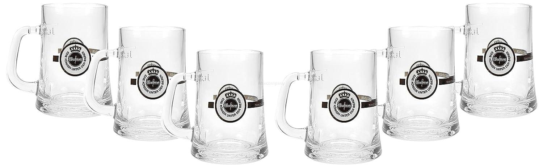 6x 0,3l geeicht Warsteiner Krug Kr/üge mit Henkel Glas Bierglas Biergl/äser Bierhumpen Set
