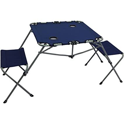 Amazon.com: Ozark Trail 2-In-1 Table Set, Includes Two Seats And Two ...