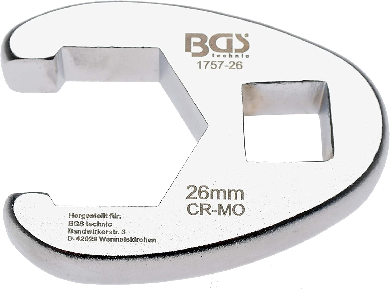BGS 1757-26 Crowfoot Spanner 1//2 Drive 26 mm 12.5 mm