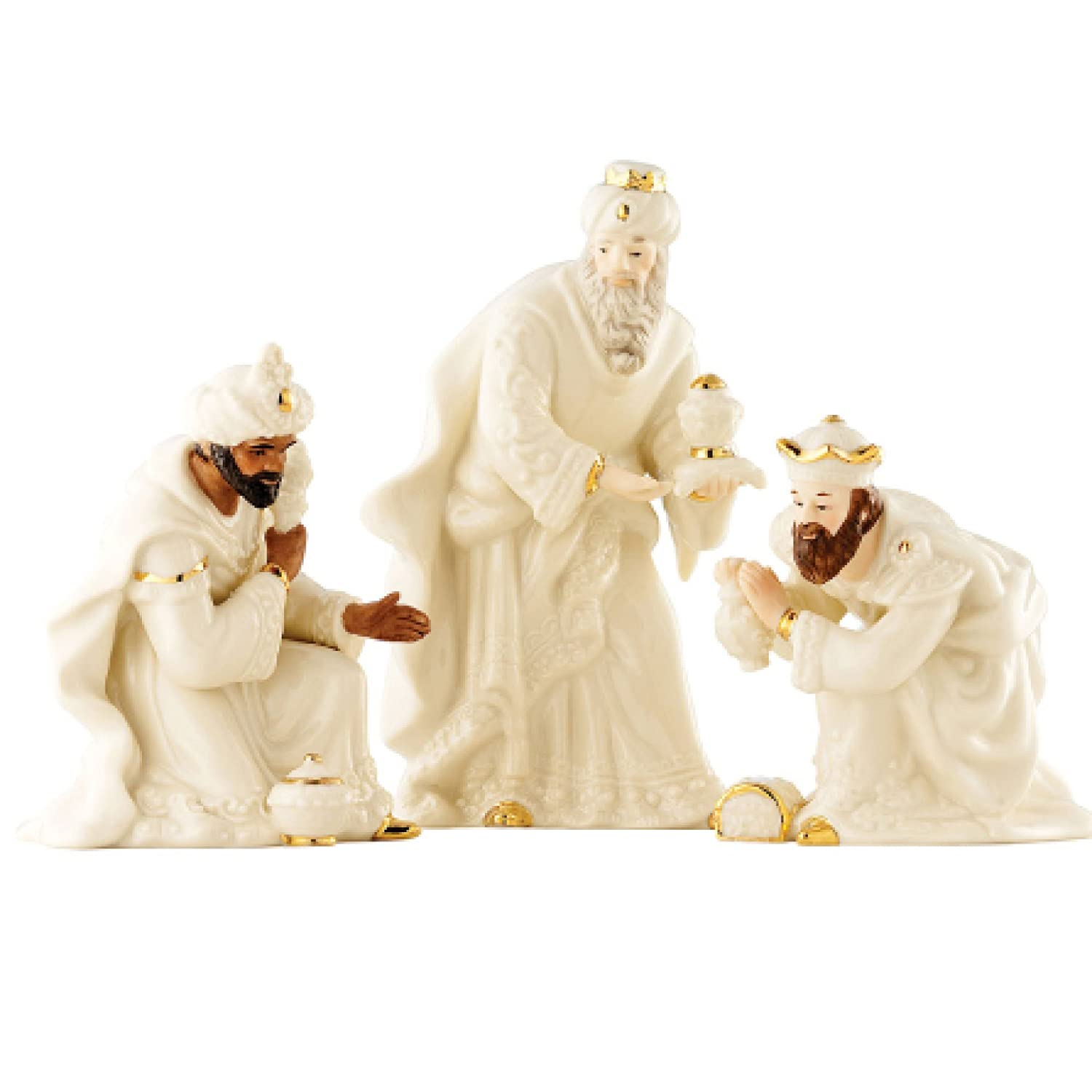 Amazon.com: Belleek Holiday Collection Three Kings Set: Home & Kitchen
