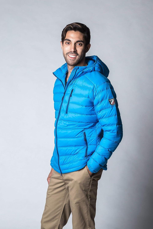 Chamonix Talmont Hooded Down Jacket Bright Blue Mens Sz L